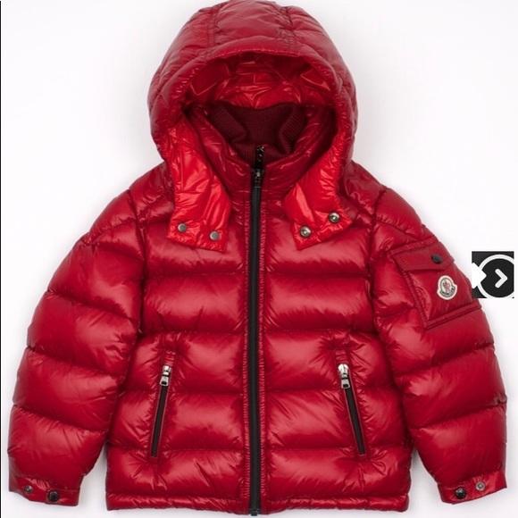 6e29f6064 BNWT Kids moncler new zin jacket in redBordeaux 12